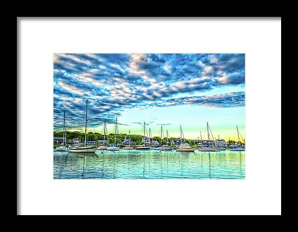 Cape Cod Framed Print featuring the photograph Falmouth Harbor Cape Cod by Gestalt Imagery