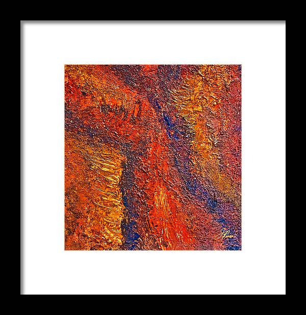 Monochromatic Browns Framed Print featuring the painting Intuitive Painting by Joan Reese