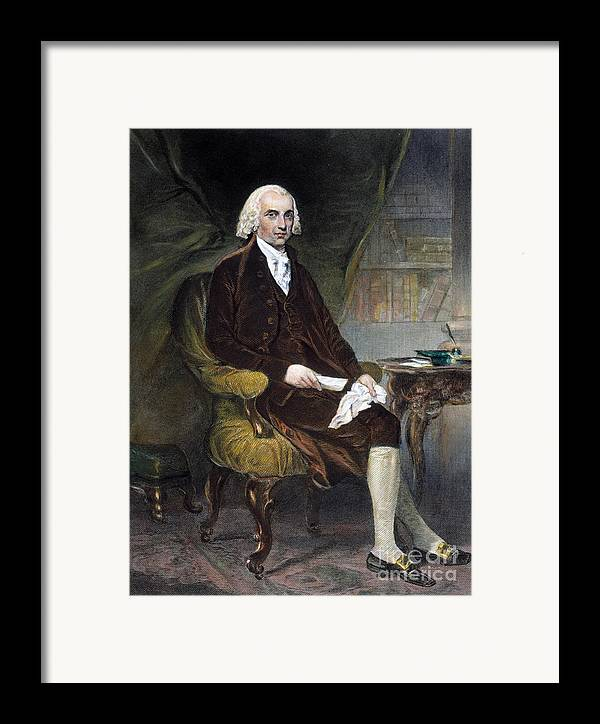 19th Century Framed Print featuring the photograph James Madison (1751-1836) by Granger
