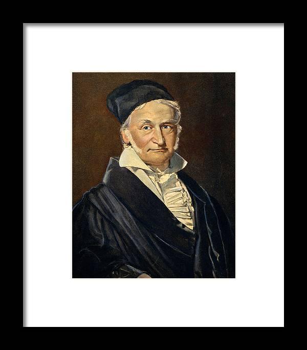 1840 Framed Print featuring the drawing Karl Friedrich Gauss, 1777-1855 by Granger