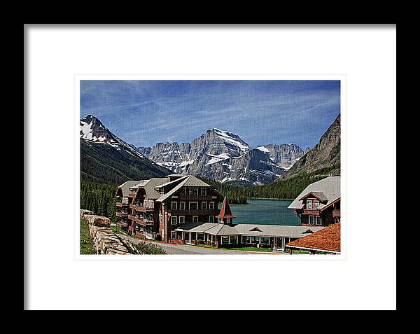 Many Framed Print featuring the photograph Many Glacier Hotel by Margie Wildblood
