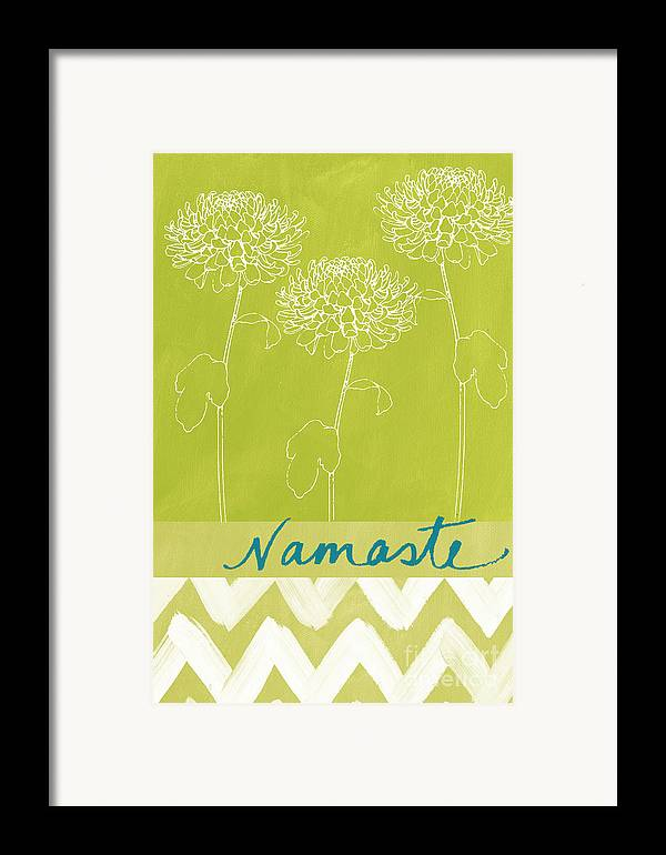 Namaste Framed Print featuring the painting Namaste by Linda Woods