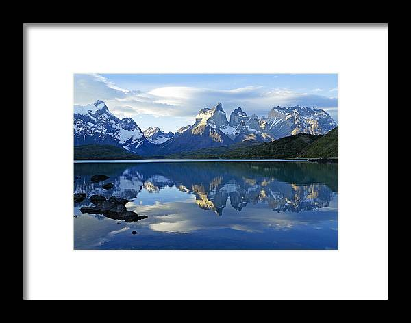 Patagonia Framed Print featuring the photograph Patagonia Reflection by Michele Burgess
