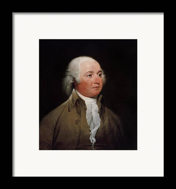 John Adams Framed Print featuring the painting President John Adams by War Is Hell Store