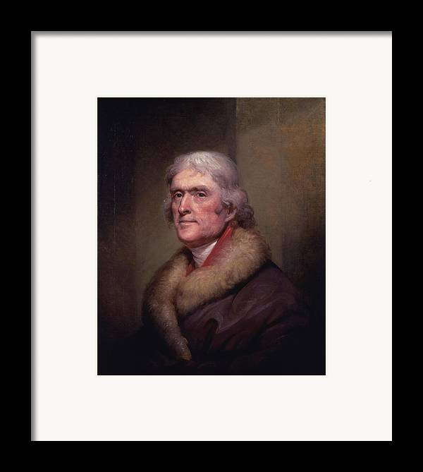 Thomas Jefferson Framed Print featuring the painting President Thomas Jefferson by War Is Hell Store