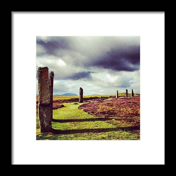 Stones Framed Print featuring the photograph Ring Of Brodgar by Luisa Azzolini