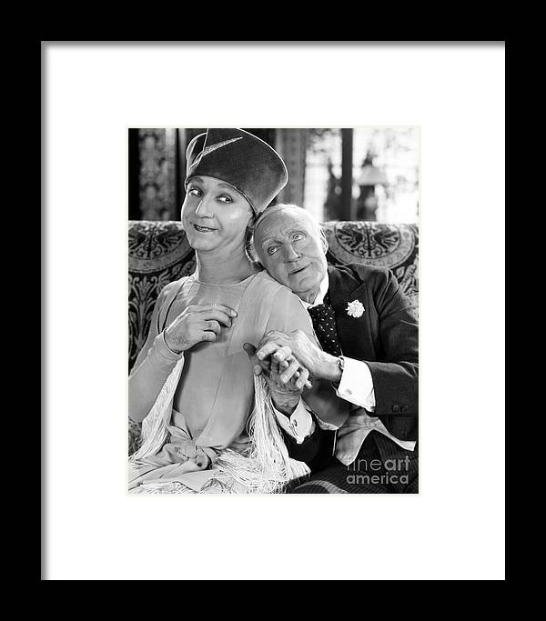 -couples- Framed Print featuring the photograph Silent Film Still: Couples by Granger