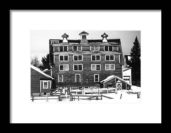 Framed Print featuring the photograph 4 Story Barn In Winter by Roger Soule