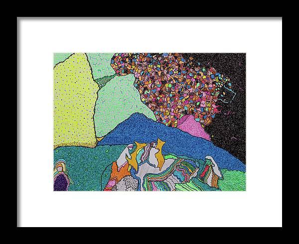 Elena Framed Print featuring the painting Exodus by Elena Ferri