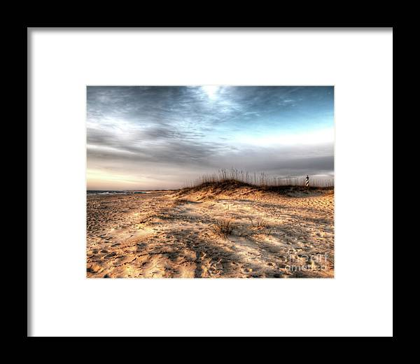 Currituck Beach Framed Print featuring the photograph Sunrise Outer Banks Of North Carolina Seascape by Greg Hager