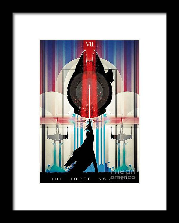 Framed Print featuring the digital art The Force Awakens by Star Wars