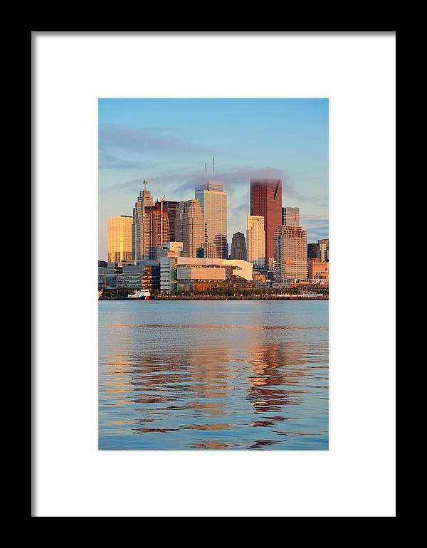 Toronto Framed Print featuring the photograph Toronto Sunrise by Songquan Deng