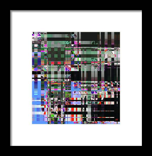 Abstract Framed Print featuring the digital art 4 U 343 by John Saunders