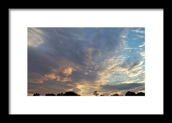 Skyscape Framed Print featuring the print Untitled by Beverly Baxter