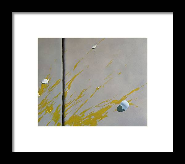 Street Scene Framed Print featuring the painting Untitled 5 by Philip Fleischer