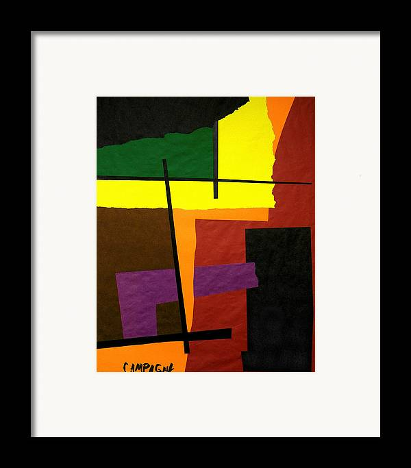 Cut Paper Framed Print featuring the tapestry - textile Untitled by Teddy Campagna