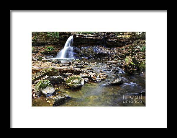Holly River State Park Framed Print featuring the photograph Upper Falls Holly River State Park by Thomas R Fletcher