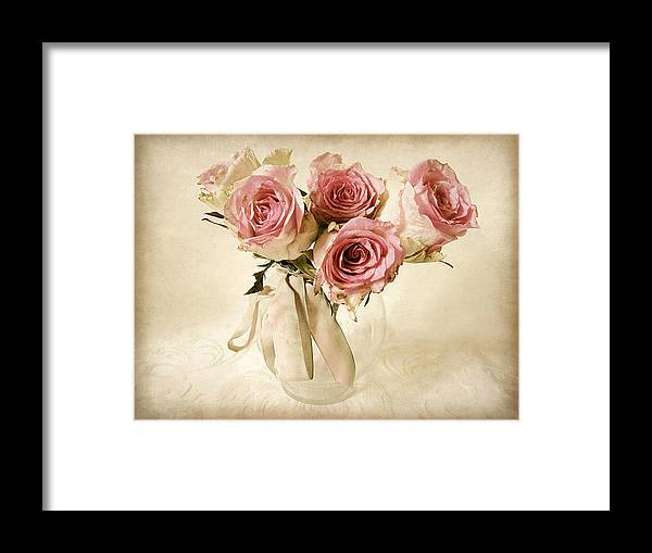 Flowers Framed Print featuring the photograph Vintage Bouquet by Jessica Jenney