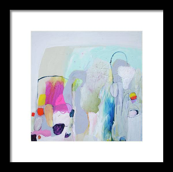 Abstract Framed Print featuring the painting 4 Years Ago by Claire Desjardins