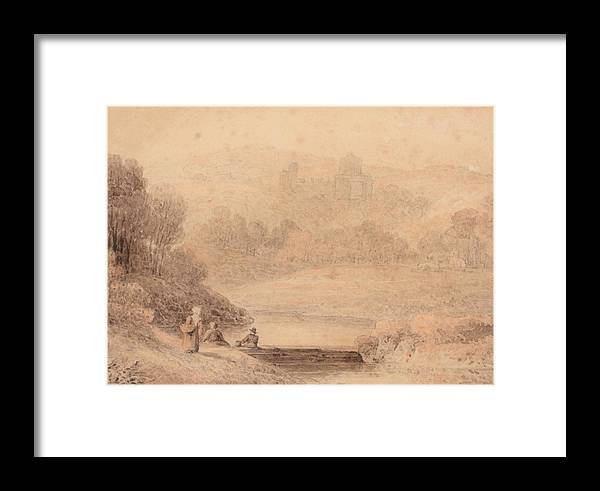 Attributed To Thomas Hearne (1744-1817) Haworth Framed Print featuring the painting Yorkshire by MotionAge Designs