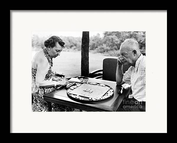 20th Century Framed Print featuring the photograph Dwight D. Eisenhower by Granger