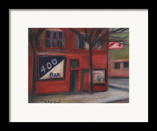Bar Framed Print featuring the painting 400 Bar Minneapolis by Todd Peterson