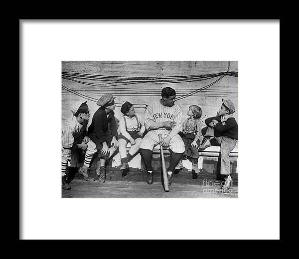 1924 Framed Print featuring the photograph George H. Ruth (1895-1948) by Granger