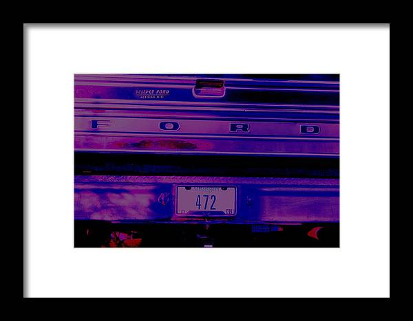 Ford Framed Print featuring the digital art 472 by Lisa Johnston