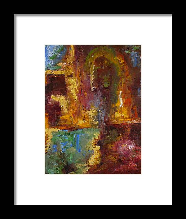 Abstract Framed Print featuring the painting 48 by Lou Ewers