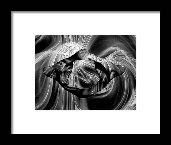 Anatomy Framed Print featuring the digital art Bw Sketches by Joseph Ventura