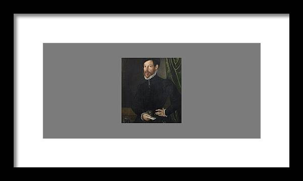 North Italian School Late 16th Century Portrait Of A Gentleman Framed Print featuring the painting Portrait Of A Gentleman by MotionAge Designs