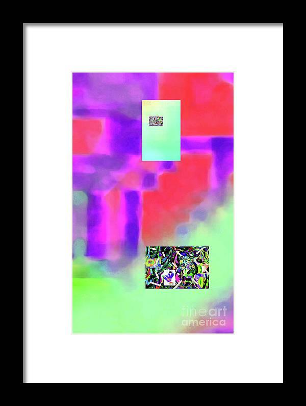 Walter Paul Bebirian Framed Print featuring the digital art 5-14-2015fabcdefghijklmnopqrtuvwx by Walter Paul Bebirian