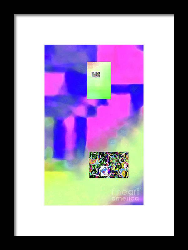 Walter Paul Bebirian Framed Print featuring the digital art 5-14-2015fabcdefghijklmnopqrtuvwxyzab by Walter Paul Bebirian
