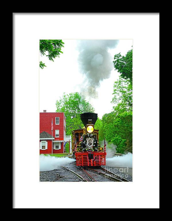 Lincoln Funeral Train Framed Print featuring the photograph A President's Funeral Train - 3435 by Paul W Faust - Impressions of Light
