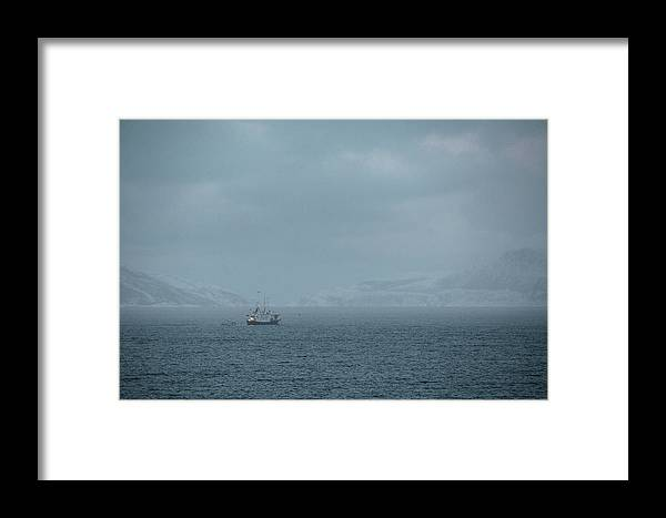 Trip Framed Print featuring the photograph Arctic Landscape In Northern Norway, Tromso Region by Aldona Pivoriene