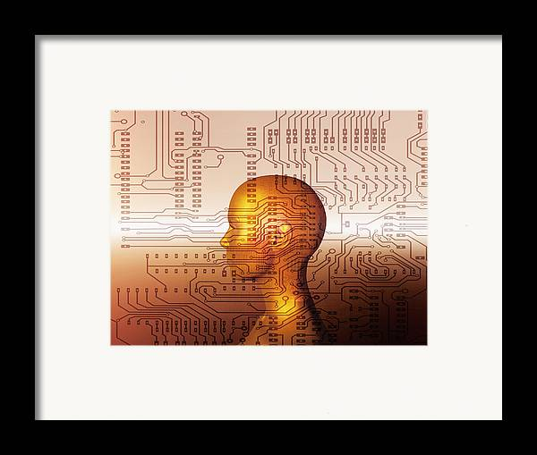 Human Framed Print featuring the photograph Artificial Intelligence by Mehau Kulyk
