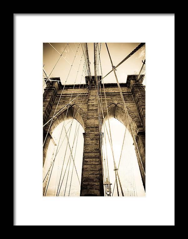 Bridge Framed Print featuring the photograph Brooklyn Bridge by Patrick Flynn