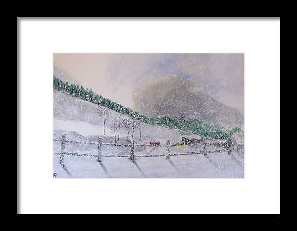 Snow Framed Print featuring the painting 5 Card Stud by Gary Smith