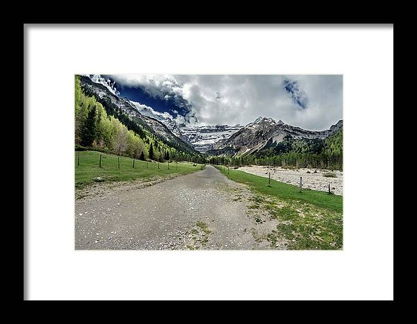 Road Framed Print featuring the photograph Cirque De Gavarnie by Tilyo Rusev