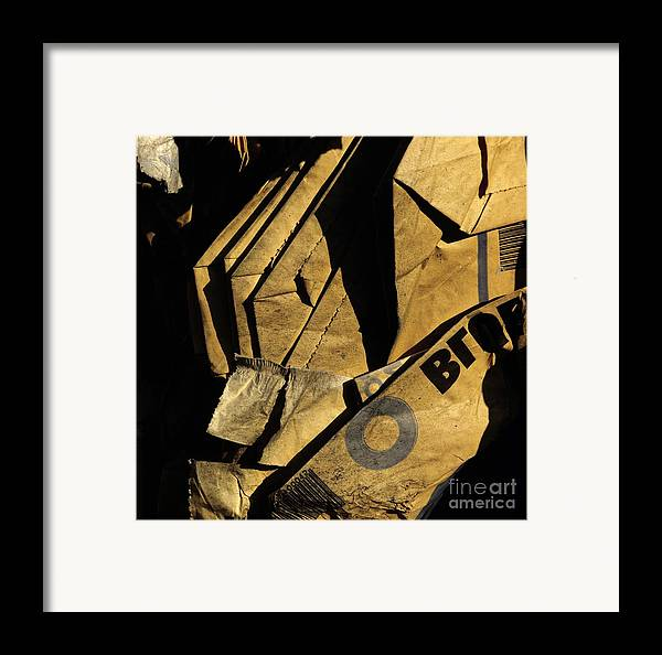 Yards Framed Print featuring the photograph Compressed Pile Of Paper Products by Bernard Jaubert