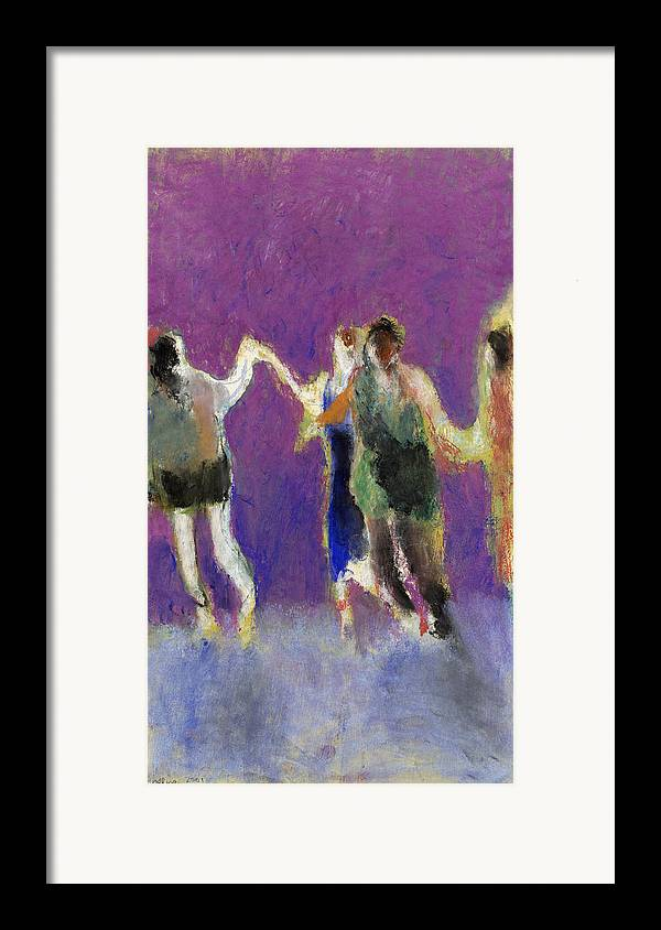 Dancers Framed Print featuring the painting Dancers by Bill Collins