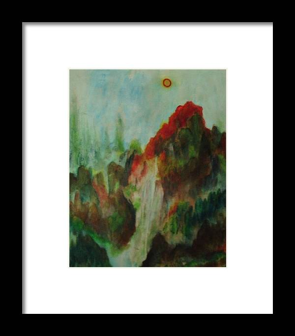 Wood Framed Print featuring the painting 5 Elements For Prosperity by Toresa Looui