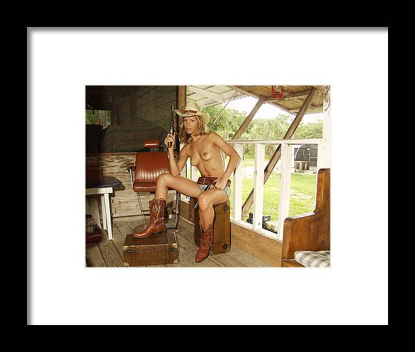 Lucky Cole Everglades Photographer Framed Print featuring the photograph Everglades Cowgirl by Lucky Cole