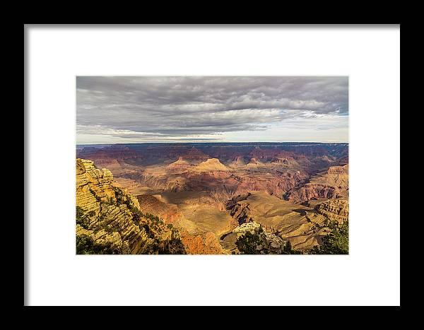 Grand Canyon Arizona South Rim Framed Print featuring the photograph Grand Canyon by Alex Zabo