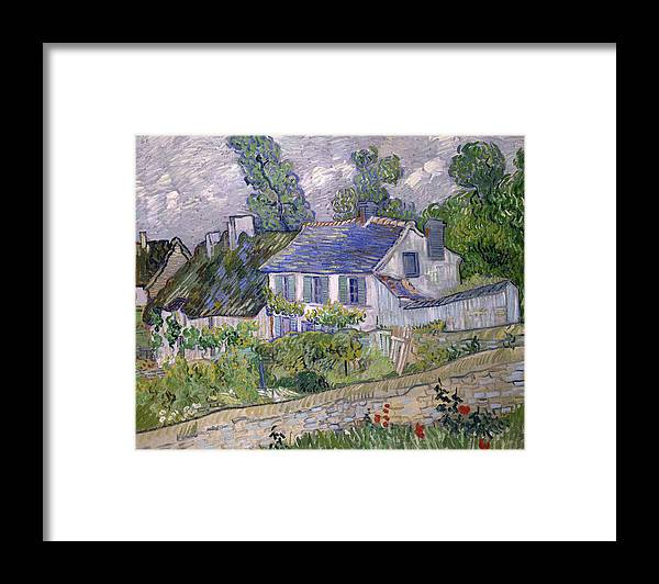 Houses At Auvers Framed Print featuring the painting Houses At Auvers by Vincent van Gogh