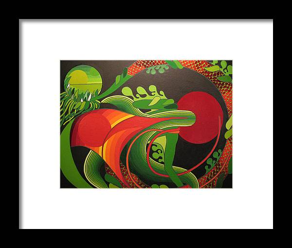 Dreams Framed Print featuring the painting My World by Francesco Venier