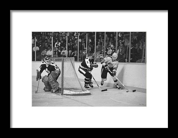 Steve Tobus Framed Print featuring the photograph Nhl Hockey At The Pacific Coliseum by Steve Tobus