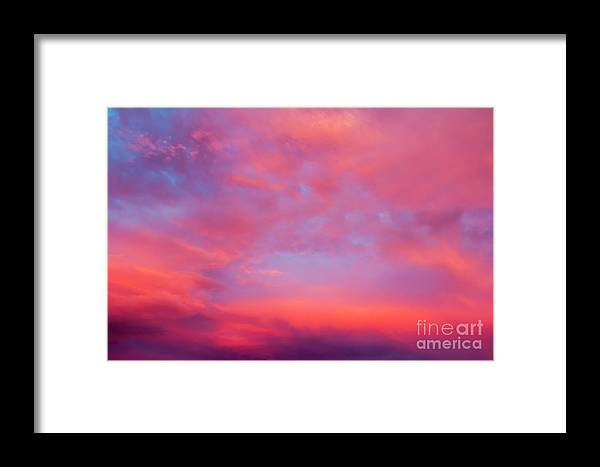 Sun Framed Print featuring the photograph Red Cloudscape At Sunset. by Sv