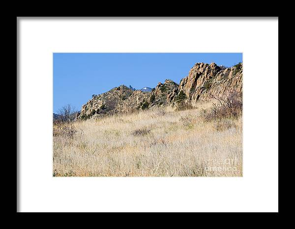 Red Rock Framed Print featuring the photograph Red Rock Canyon Open Space Park by Steve Krull