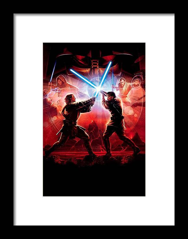 Star Wars Framed Print featuring the digital art Star Wars Episode IIi - Revenge Of The Sith 2005 3 by Geek N Rock